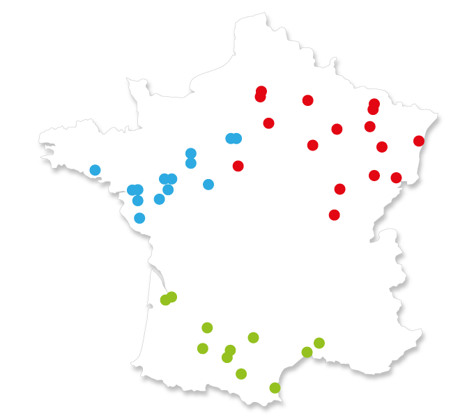 Carte du Réseau Alliance Camper Team